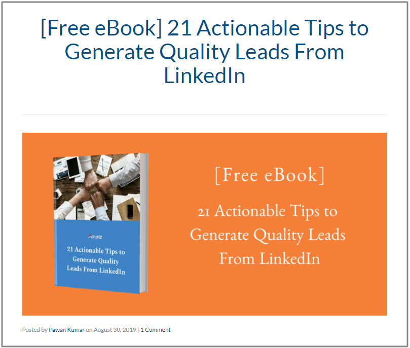 [Free eBook] 21 Actionable Tips to Generate Quality Leads From LinkedIn