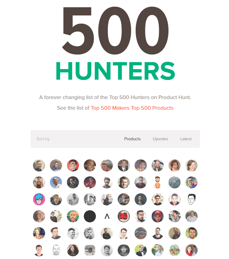 Find hunters at 500 Hunters