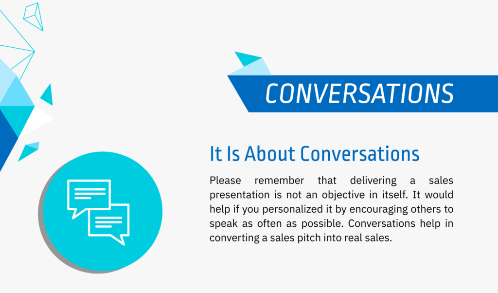 conversational sales pitch example
