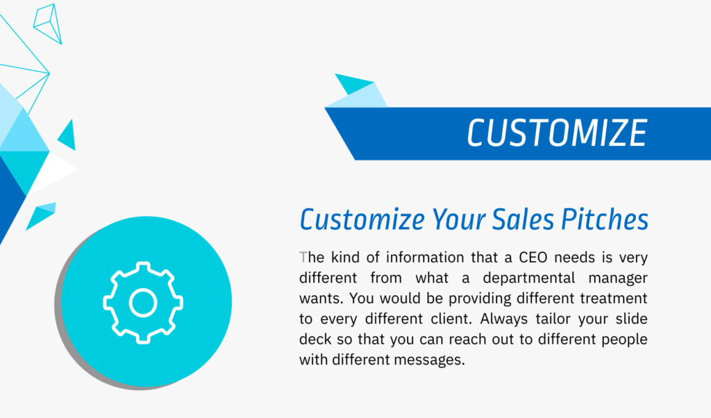 customize your sales pitch