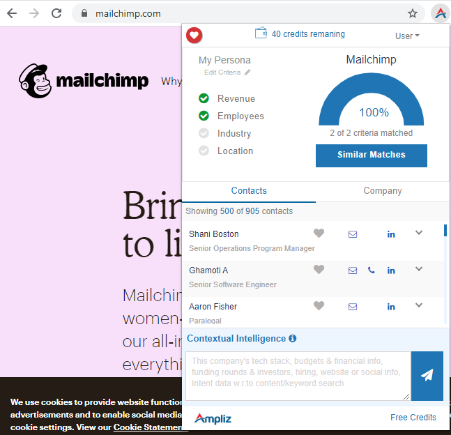 Ampliz Salesbuddy - sales intelligence tool