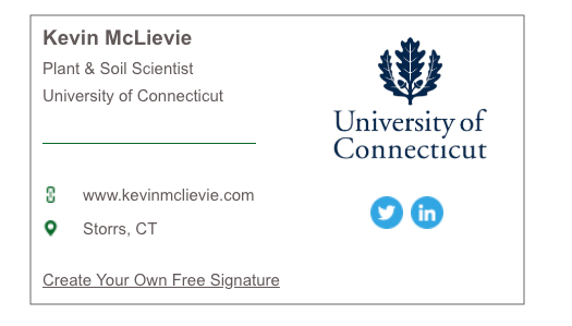 Email signature example with logo