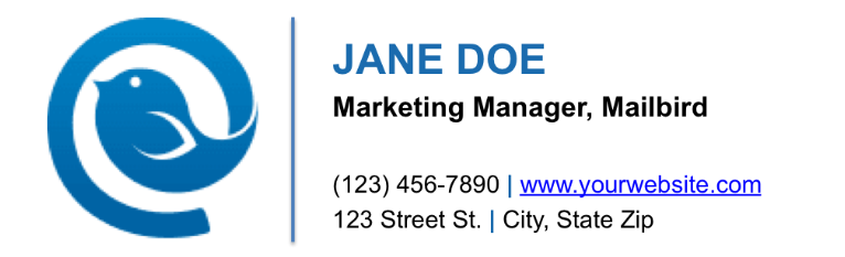 Include logo in your email signature