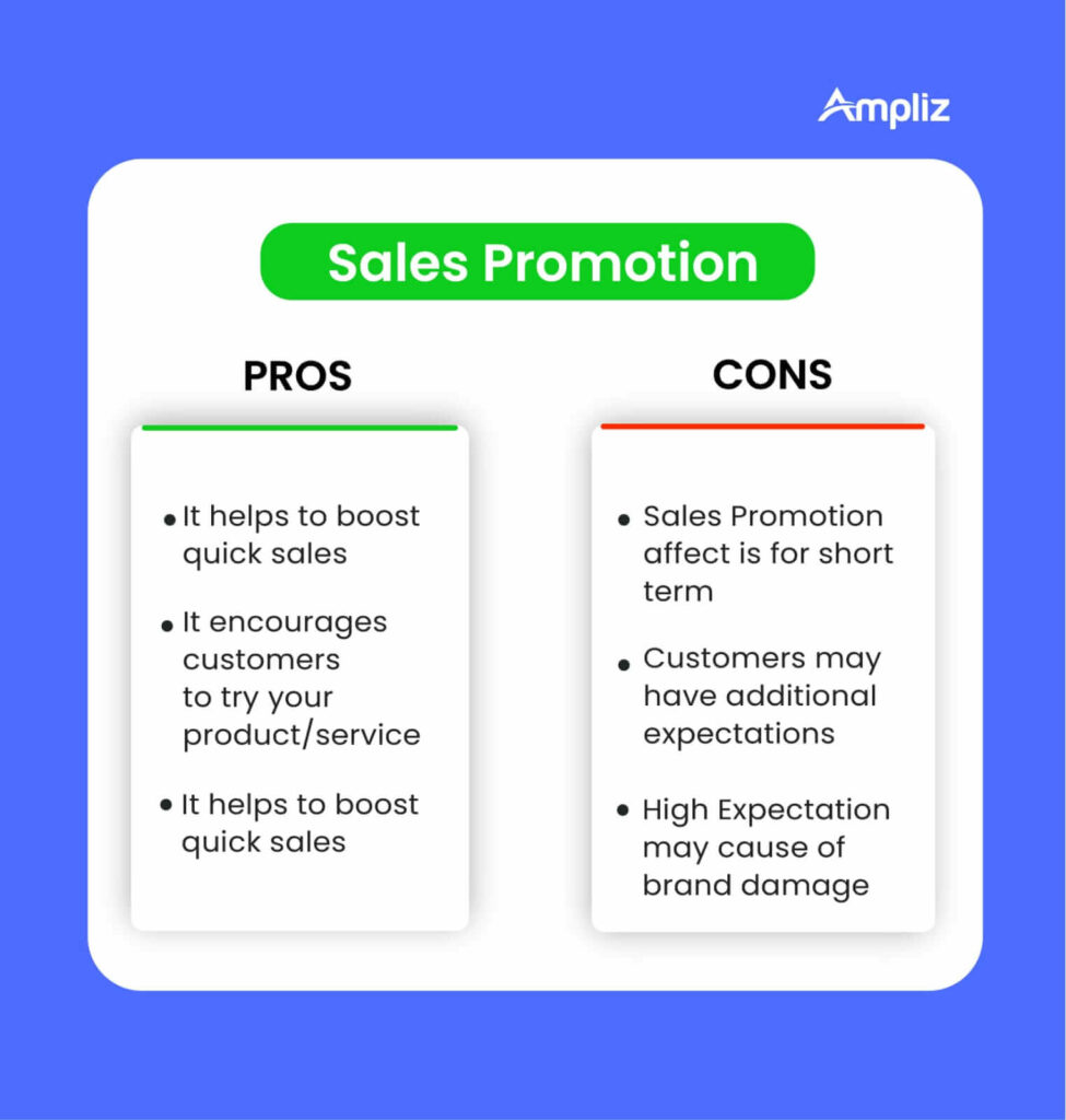 sales promotion pros and cons