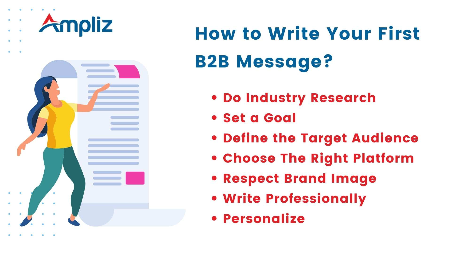 How to Write Your First B2B Message